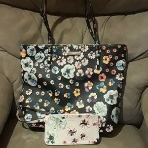 Nine West Purse and Cosmetic Bag Set, GUC